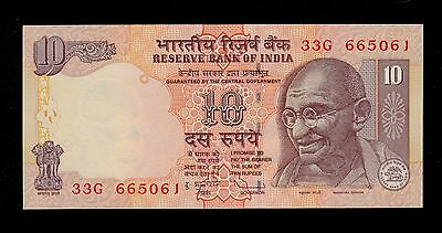 INDIA  10  RUPEES  2009   PICK # 95j  UNC-.  BANKNOTE.