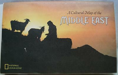 National Geographic Society A Cultural Map Of The Middle East 1972 Vintage