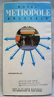 Hotel Metropole Brussels Belgium Advertising Brochure Guide 1960 Vintage
