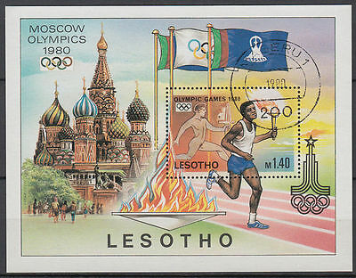Lesotho 1980 fine used Bl.5 Olympische Spiele olympic games [st2796]