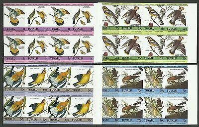 Birds-1985 Tuvalu-MNH block of 4 complete set-Imperforated