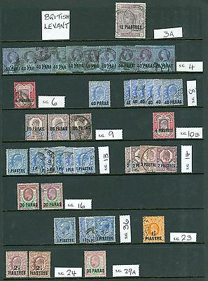 British Levant mint and used on stock cards condition mixed includes fine nice