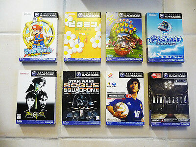 Japanese Import Nintendo Gamecube GC LOT 8 GAMES Super Mario Sunshine, Wave Race