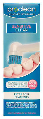 PROCLEAN Replacement Toothbrush Heads (4pk) Oral B Sensitive Compatible -Y96