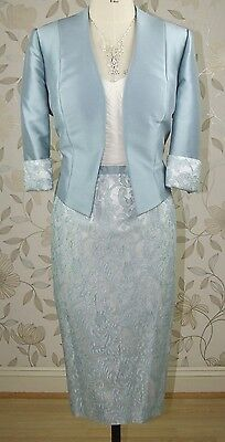 £780 BNWT John Charles Mother of Bride Groom Lace Dress & Jacket Size 18