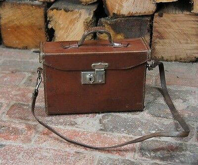 Beautiful Vintage Antique leather Shoulder Cartridge Case bag