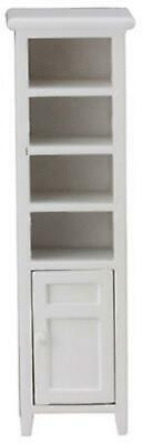 Dolls House Tall Slim White Space Saver Bathroom Cabinet Miniature Furniture