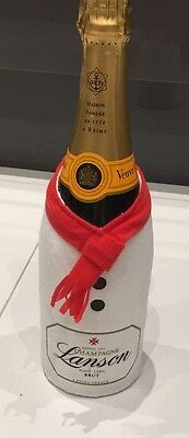 Lanson Champagne Snowman Christmas Bottle Cover Limited Edition Ideal Xmas Gift