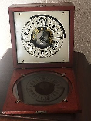 Antique Seth Thomas 24hr. American Bank Protection Co. Clock Working With Key.