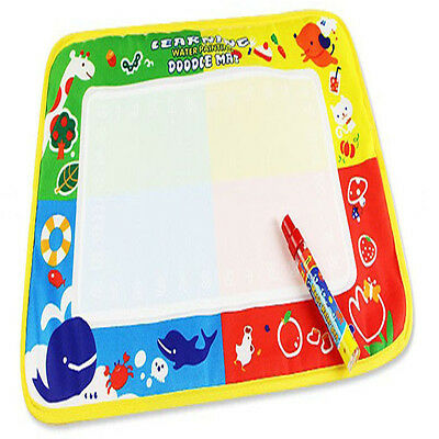 Kids Drawing Water Pen Painting Magic Doodle Aquadoodle Mat Board Large 18x12in