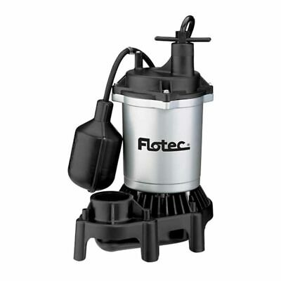 Flotec FPZS50T - 1/2 HP Thermoplastic Submersible Sump Pump w/ Piggyback Teth...
