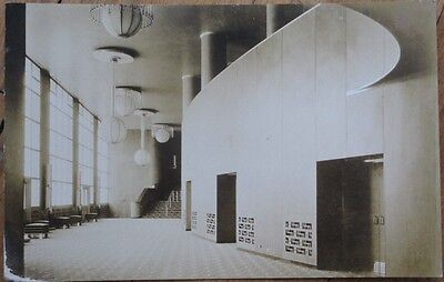 Rockefeller Center Grand Foyer 1930s Realphoto Postcard- New York City/NYC, NY