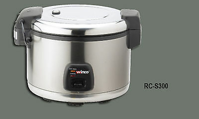 1 Set Winco Advanced Electric Rice Cooker Warmer 60 Cups Cooked Rice RC-S300