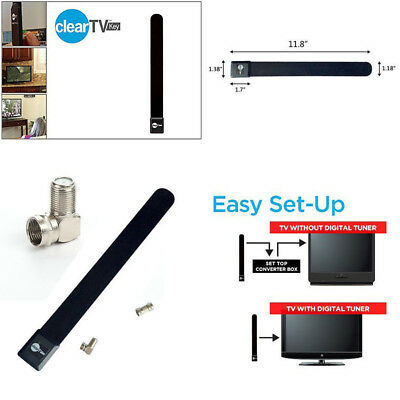 Quality Black Clear TV Key HDTV FREE TV Digital Indoor Antenna Ditch Cable