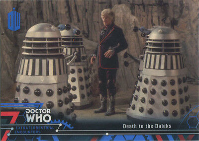 Doctor Who Extraterrestrial Encounters Blue Parallel Chase Card 59 #61/99