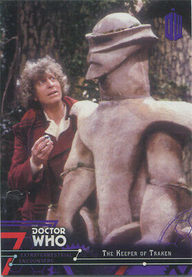 Doctor Who Extraterrestrial Encounters Purple Parallel Chase Card 61 #24/50