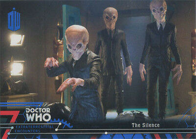 Doctor Who Extraterrestrial Encounters Blue Parallel Chase Card 41 #76/99