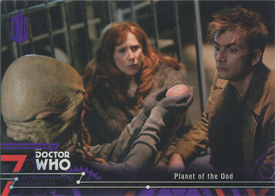 Doctor Who Extraterrestrial Encounters Purple Parallel Chase Card 78 #40/50