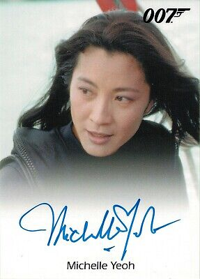 James Bond 50th Series Two Autograph Card Michelle Yeoh as Wai Lin