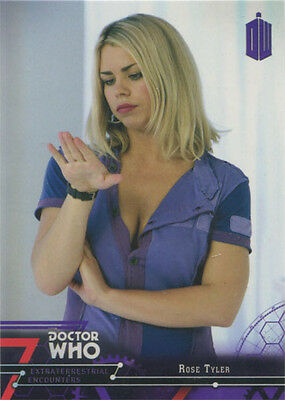 Doctor Who Extraterrestrial Encounters Purple Parallel Chase Card 18 #14/50