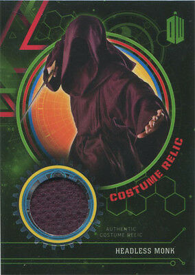 Doctor Who Extraterrestrial Encounters Costume Relic Card Headless Monk #054/499