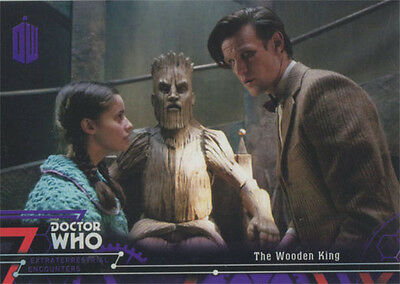 Doctor Who Extraterrestrial Encounters Purple Parallel Chase Card 42 #43/50