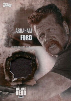Walking Dead Season 5 Costume Chase Abraham Ford Shirt Relic Sepia Parallel 1/10