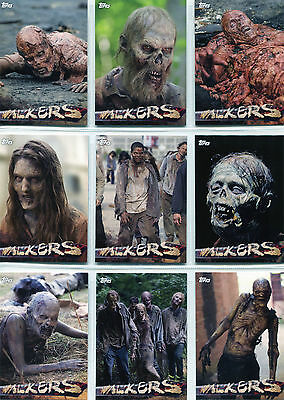 Walking Dead Season 5 Walkers Complete 10 Chase Card Set W-1 to W-10