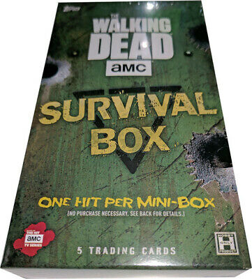 Walking Dead Survival Box Factory Sealed Mini Hobby Box
