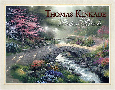 Nip Thomas Kinkade Poster Book 20 Poster Paintings For Framing Sealed Mint Gift
