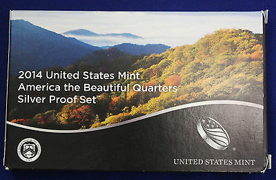 2014-s SILVER. U.S. Mint made America the Beautiful  QUARTERS  proof Set