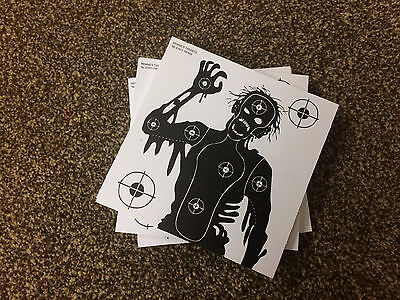 100 x 14cm PAPER Black & White ZOMBIE Top Quality Rifle Pistol Shooting Targets