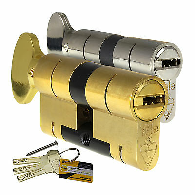 YALE Superior Thumbturn Euro Cylinder Anti-Bump Snap Defence uPVC Door Lock