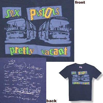 Sex Pistols! Pretty Vacant Grey Swag T-Shirt Slim Fit Small New Official
