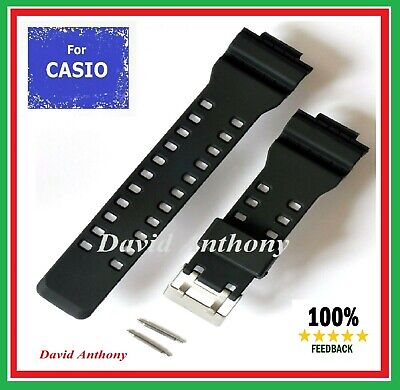 Fits CASIO G SHOCK.SUPERIOR RUBBER WATCH STRAP 16MM-29MM BLACK GA-100