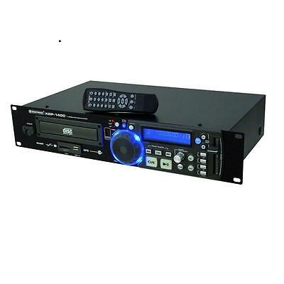 Top Platine Dj Lecteur Cd Mp3 Omnitronic Xdp-1400 Pa Sono Sd Usb Cd-R Cd-Rw Rack