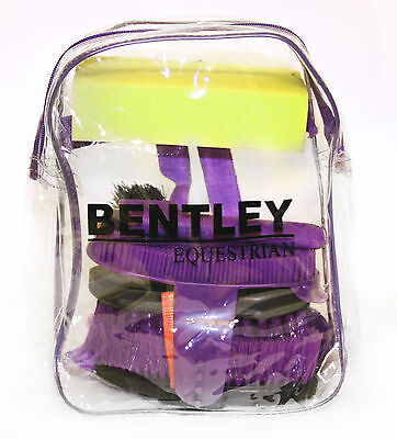 Bentley Equestrian Kids Childs 6Pc Grooming Kit – Purple Other Colours Available