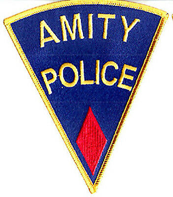 Der Weisse Hai - Amity Police red - Logo Jaws - Uniform Patch - Aufnäher