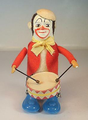Schuco Tanzfigur Clown mit Trommel Uhrwerk Nachkrieg Made in US-Zone Nr. 1 #1129