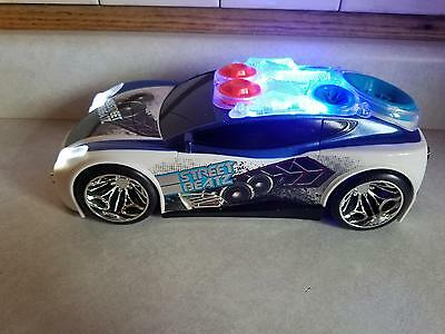 Toy State Road Rippers Street Beatz Car w Motion Sound Lights Music Blue White