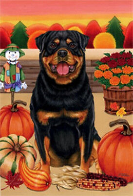 Large Indoor/Outdoor Autumn Flag - Rottweiler (TP) 67002