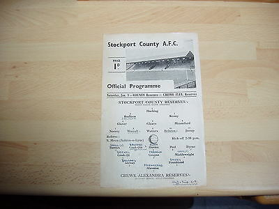 Stockport Res v Crewe Res Cheshire County Lge 1947/8 Single Sheet
