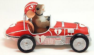 Fitz & Floyd Charming Tails YOU MAKE MY HEART RACE #84/145 Race Car - IOB