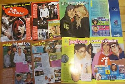 Fall Out Boy, Lot of FOUR Two Page Pinup Clippings