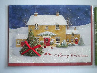 """Luxury Embellished 3D """"merry Christmas"""" Greeting Card & Red Envelope"""