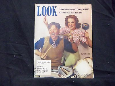 1940 October 8 Look Magazine - Mickey Rooney And Judy Garland - St 1465