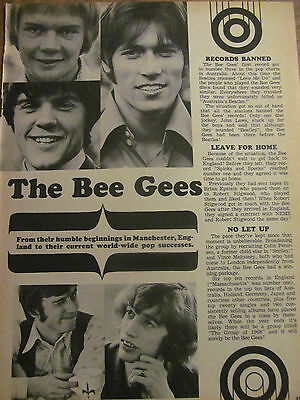 The Bee Gees, Full Page Vintage Clipping