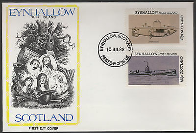 GB Locals - Eynhallow (1319) 1982 SUBMARINES perf set of 2 on first day cover