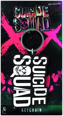 """Suicide Squad """"logo"""" Rubber Keychain (Pyramid) New"""