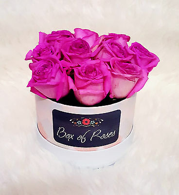 Fresh Real Flowers Bouquet Delivered Red Pink White Rose Box of Roses Valentines